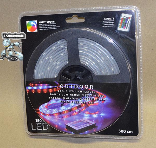outdoor led flex lichtleiste 500cm 150x multicolor led. Black Bedroom Furniture Sets. Home Design Ideas